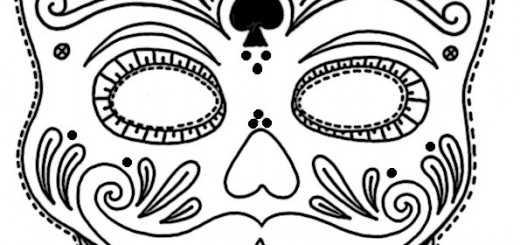 ausmalbilder masken-31