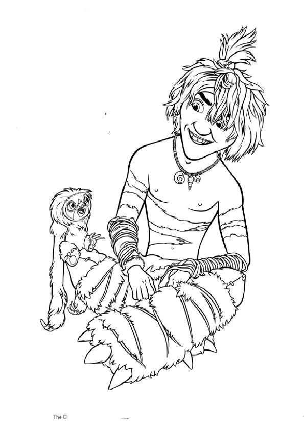 ausmalbilder die croods-7 | Ausmalbilder und Basteln mit Kindern