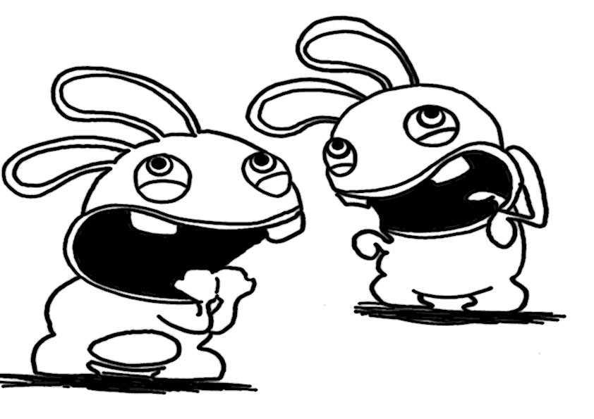 ausmalbilder rayman rabbids -2 | Ausmalbilder Malvorlagen