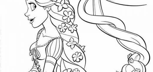 ausmalbilder kinder rapunzel-15
