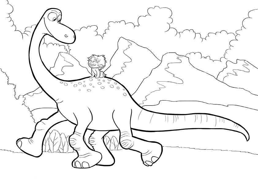 ausmalbilder der gute dinosaurier-18