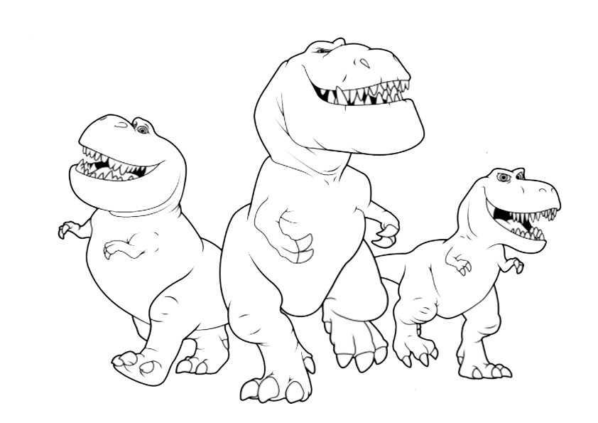 ausmalbilder der gute dinosaurier-23
