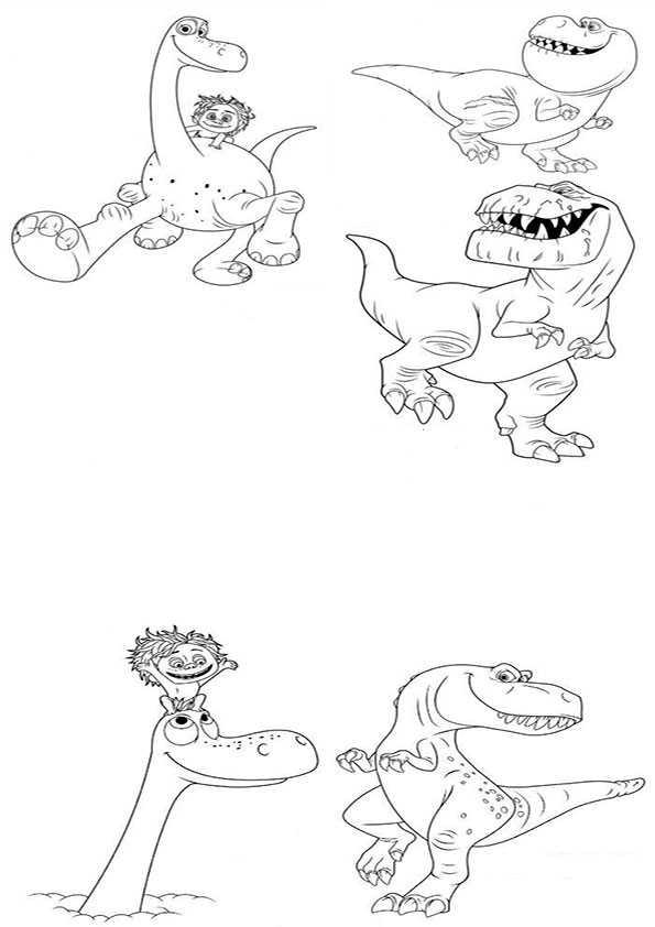 ausmalbilder der gute dinosaurier-12