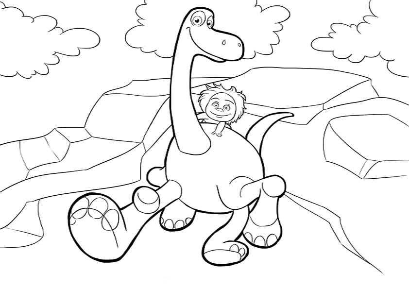 ausmalbilder der gute dinosaurier-14