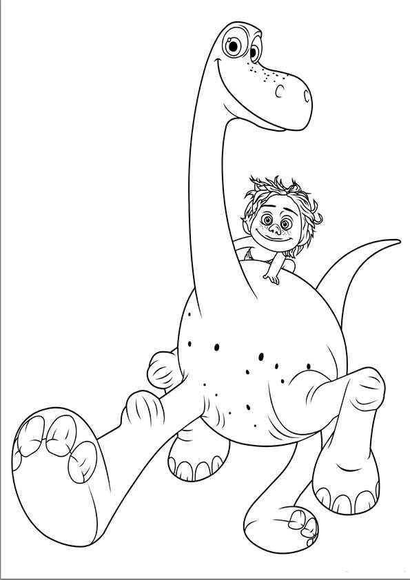 ausmalbilder der gute dinosaurier-3