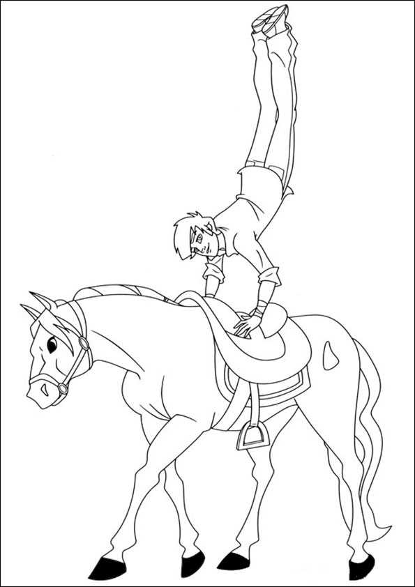 Coloring Page Horseland