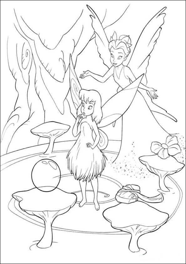 Tinkerbell 32 Ausmalbilder Malvorlagen