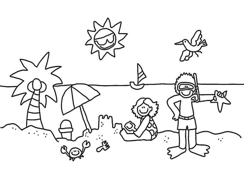 ausmalbilder sommer -4