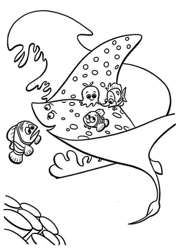 ausmalbilder nemo und dory -7