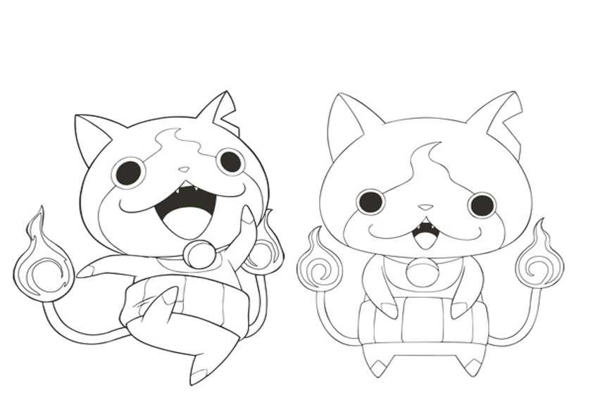 ausmalbilder yo kai watch,-13