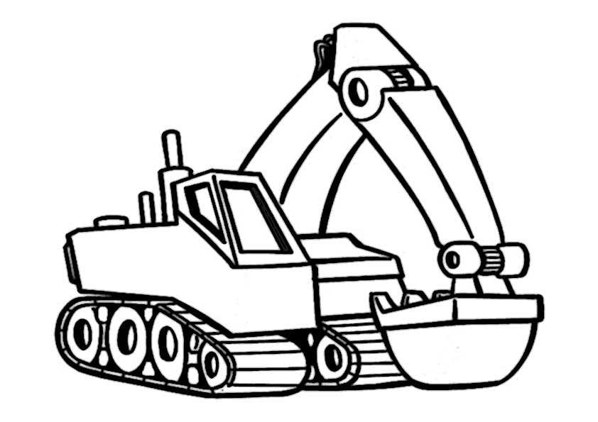 Malvorlagen Bagger Traktor | My blog
