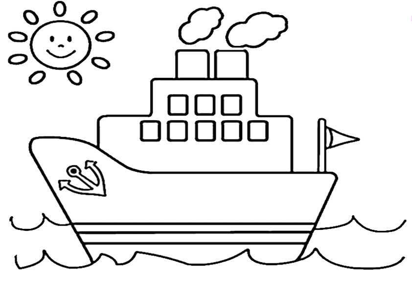 schiffe-1 | Ausmalbilder Malvorlagen