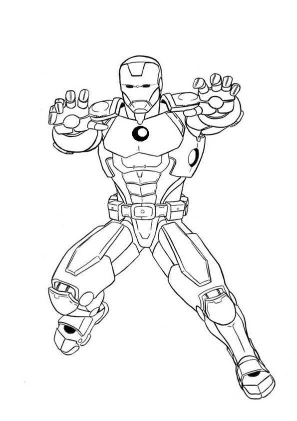 ausmalbilder ironman -11