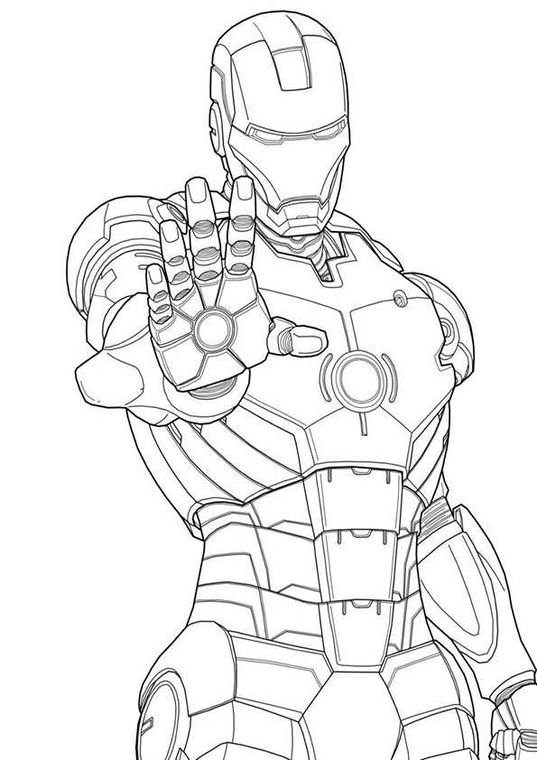 ausmalbilder ironman -6