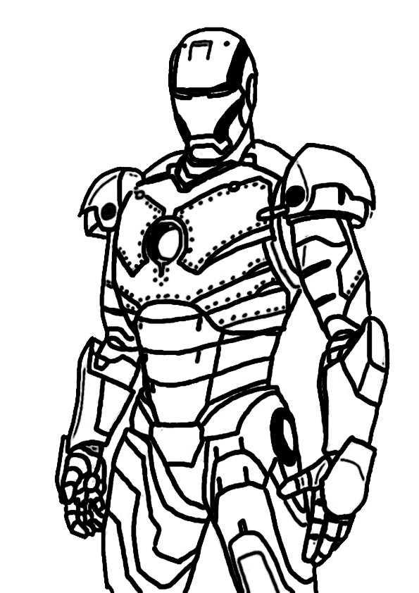 ausmalbilder ironman -7