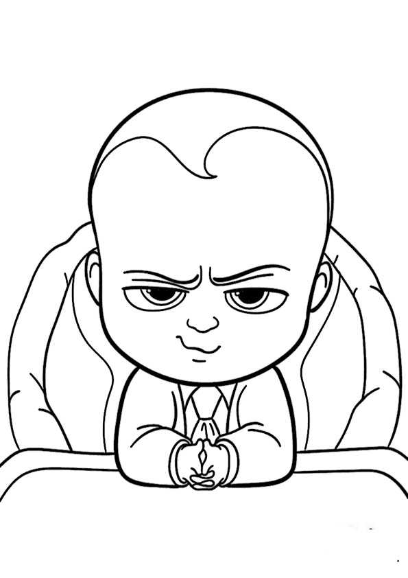 Coloring Pages Cartoons The Boss Baby