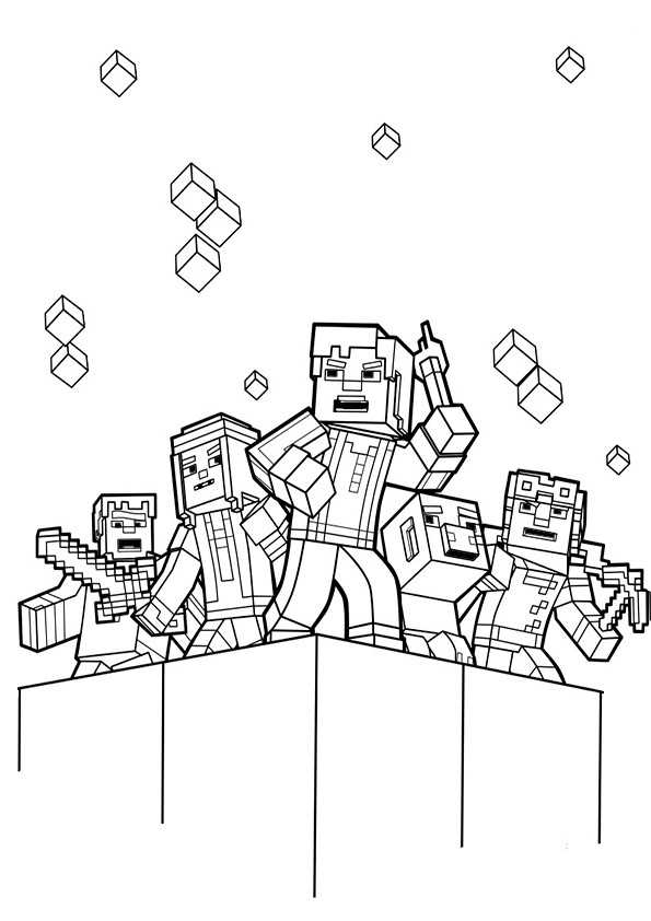 Minecraft Spiderman Coloring Page