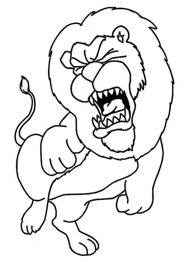 ausmalbilder löwe-4