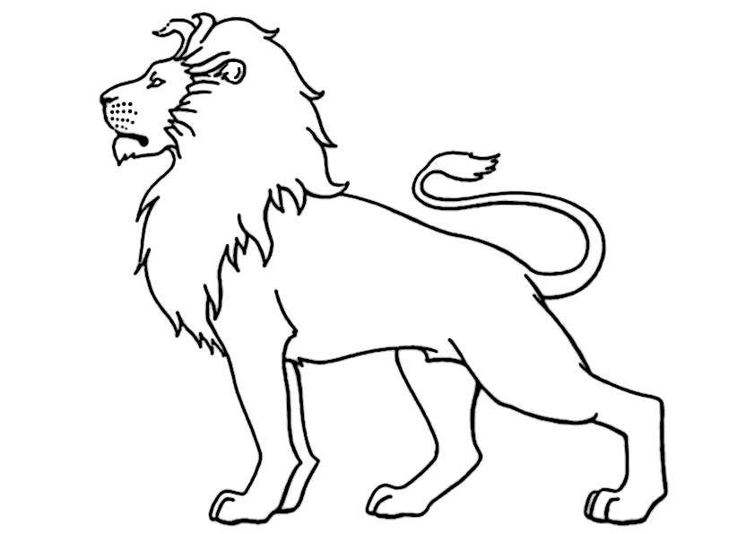 ausmalbilder löwe-8