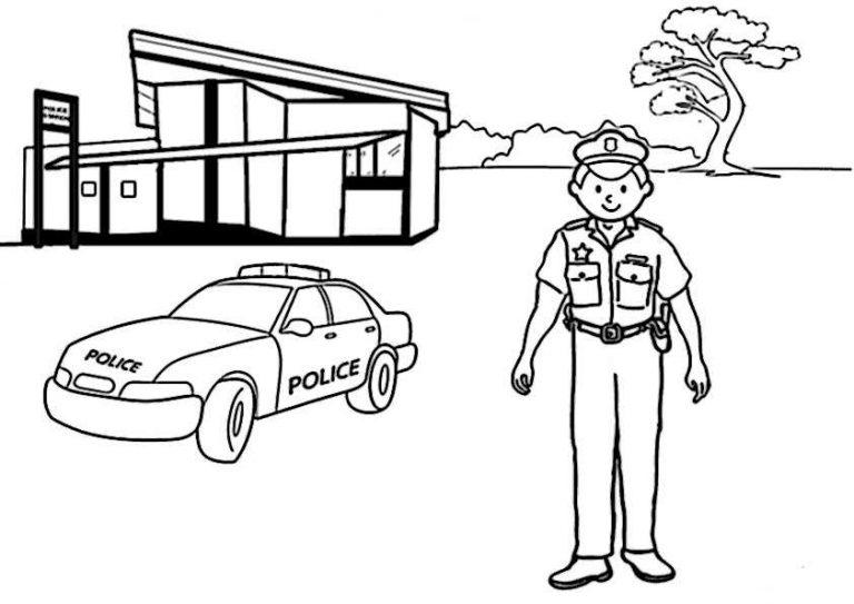 polizei6  ausmalbilder malvorlagen