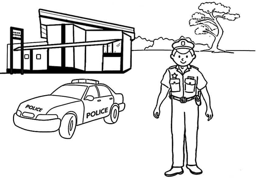 Snap Ausmalbilder Polizeiauto Mercedes Ausmalbilder von Polizei ...