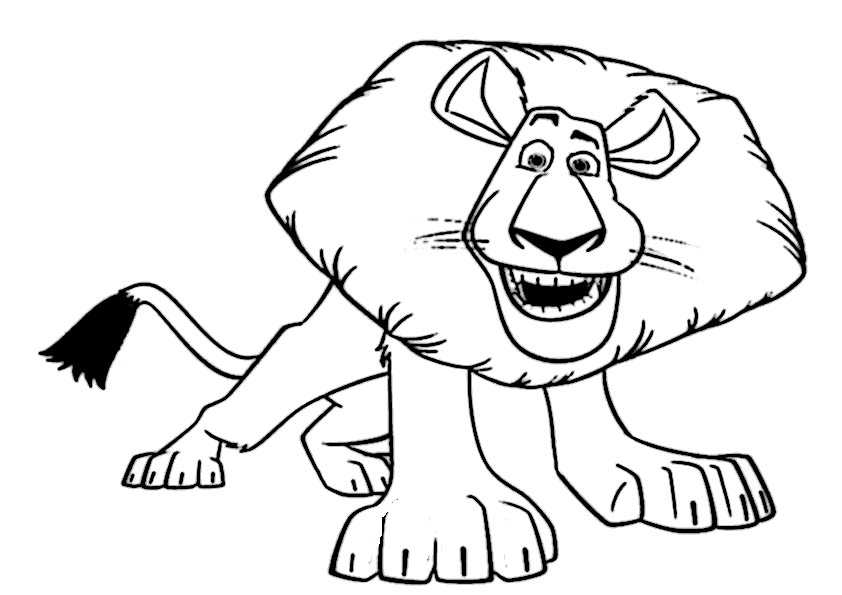 ausmalbilder löwe-14