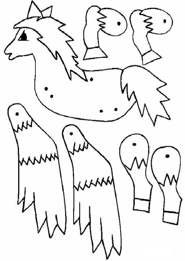 ausmalbilder ausschneiden pferde-2