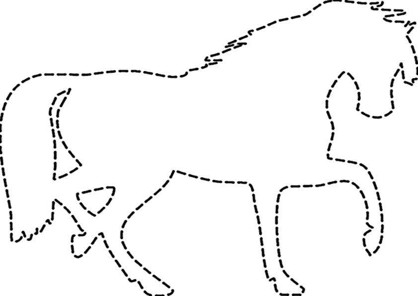 ausmalbilder ausschneiden pferde-4
