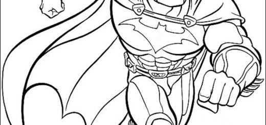 ausmalbilder batman -1