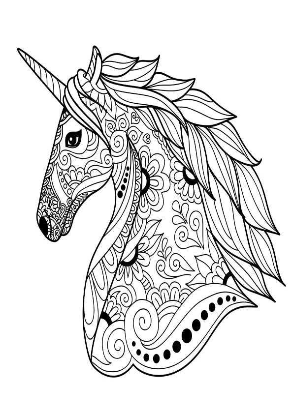 ausmalbilder pferde einhorn ausmalbild  ausmalbilder