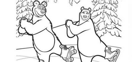 ausmalbilder mascha und der bär -5