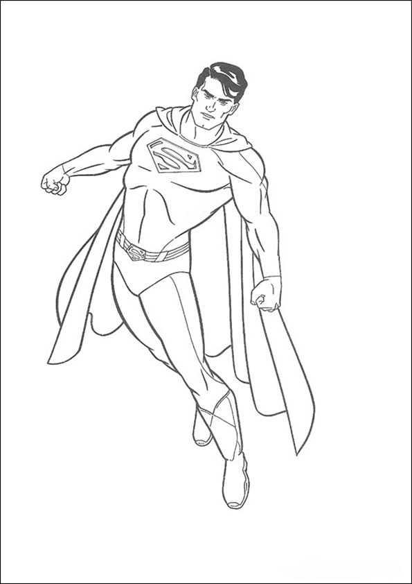 ausmalbilder superman -4