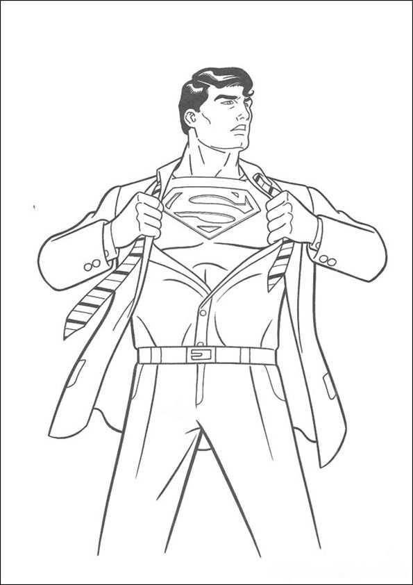 ausmalbilder superman -6
