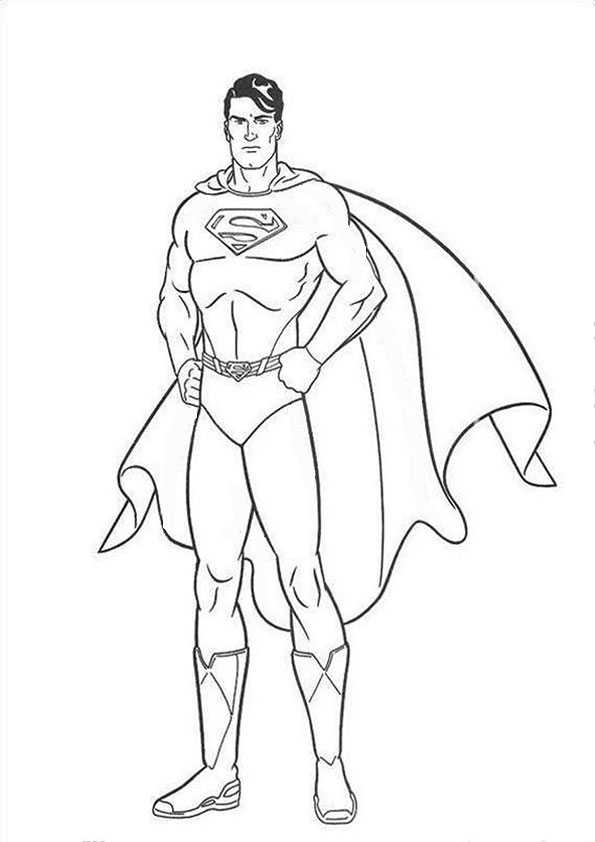 superman7  ausmalbilder malvorlagen
