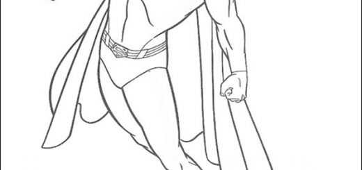 ausmalbilder superman -8