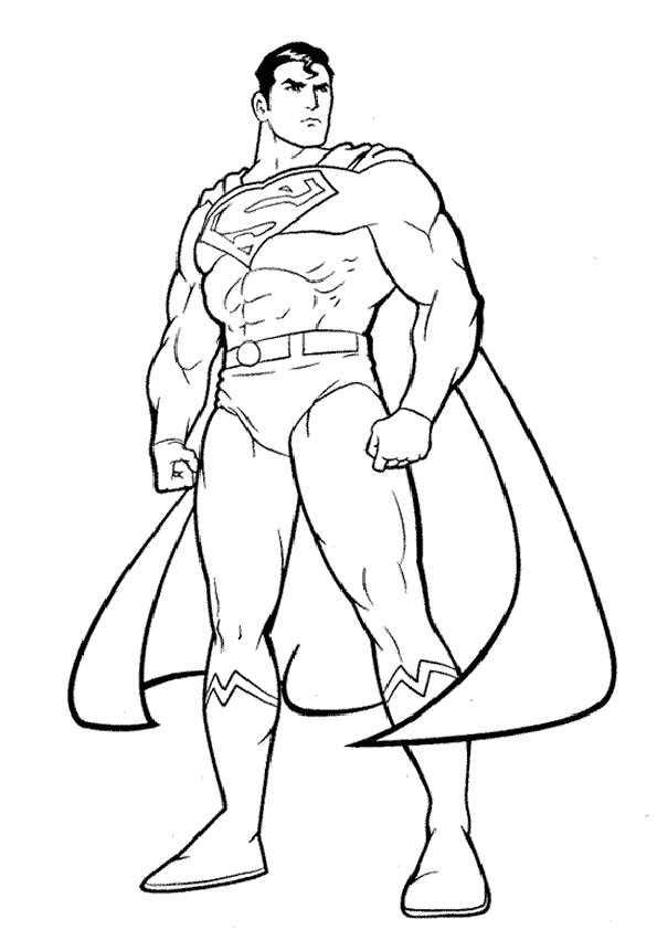Superman Ausmalbilder Ausmalbilder Fr Kinder Superhelden: Ausmalbilder Malvorlagen