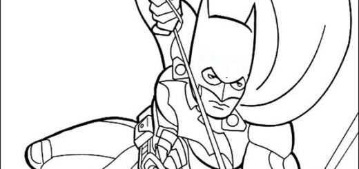 ausmalbilder batman -8